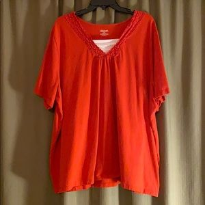 Orange short sleeve cotton tee. 2x